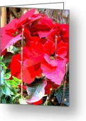 Heaven Digital Art Greeting Cards - Flames of Christmas Greeting Card by Mindy Newman