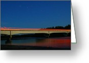 Tom Liesener Greeting Cards - Flames Over Big Su Greeting Card by Tom Liesener