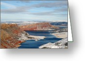Tom Liesener Greeting Cards - Flaming Gorge Greeting Card by Tom Liesener