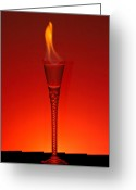 Cocktail Greeting Cards - Flaming Hot Greeting Card by Gert Lavsen