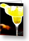 Lime Digital Art Greeting Cards - Flaming Hot Margaritaville Greeting Card by Wingsdomain Art and Photography