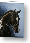 Horse Show Greeting Cards - Flash Greeting Card by Richard De Wolfe