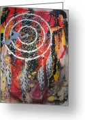Representative Abstract Greeting Cards - Flashback Greeting Card by David Raderstorf