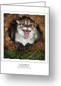 Felidae Digital Art Greeting Cards - FLAT HEADED CAT Prionailurus planiceps Greeting Card by Owen Bell