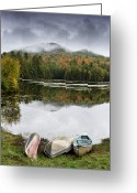 Pond Reflection Greeting Cards - Flavor of the Adirondacks Greeting Card by Brendan Reals