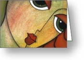 Modern Abstract Art Greeting Cards - Flawless Greeting Card by Tom Fedro - Fidostudio