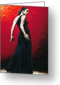 Dancer Art Greeting Cards - Flemenco Arrogancia Greeting Card by Richard Young