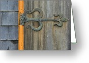 Madaleine Greeting Cards - Fleur de Lis Hinge Greeting Card by Tony Beck