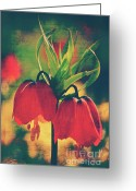 Flower Blossom Greeting Cards - Fleur de printemps Greeting Card by Angela Doelling AD DESIGN Photo and PhotoArt