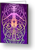 Hippie Art Greeting Cards - Fleur-des-Lis Greeting Card by Cristina McAllister