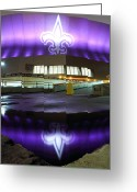 Parking Lot Greeting Cards - Fleur di Lis Reflected Greeting Card by Pixel Perfect by Michael Moore