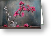 Zen Greeting Cards - Fleur Greeting Card by Manfred Lutzius