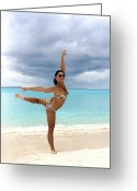 Vacationers Greeting Cards - Flexibility  Greeting Card by Gal Eitan