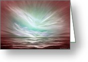  Originals Greeting Cards - Flight at Sunset - Abstract Sunset Greeting Card by Gina De Gorna