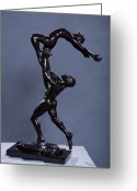 Male Sculpture Greeting Cards - Flight Greeting Card by Dan Earle
