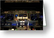 Indicator Greeting Cards - Flight deck. Greeting Card by Fernando Barozza