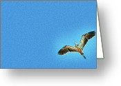 Aspiration Greeting Cards - Flight In The Style Of Zen Greeting Card by Mark Fuller