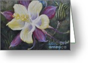 Flower. Petals Pastels Greeting Cards - Flights of Fancy Greeting Card by Debbie Harding