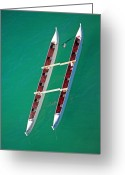 Waikiki Beach Greeting Cards - Float My Boat Greeting Card by Elizabeth Hoskinson
