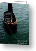Mayflower Greeting Cards - Floating boat Greeting Card by Hideaki Sakurai