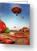 High Colour Vivid Color Greeting Cards - Floating Greeting Card by Buchachon Petthanya