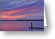 Tonemapped Greeting Cards - Floating Dock Greeting Card by Phill  Doherty