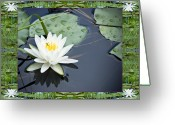 Sacred Geometry Greeting Cards - Floating Ivory Greeting Card by Bell And Todd