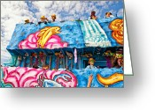 Thor Photo Greeting Cards - Floating Thru Mardi Gras Greeting Card by Steve Harrington