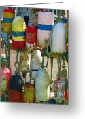 Fishermen Greeting Cards - Floats and Buoys I Greeting Card by Mg Rhoades