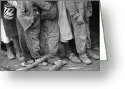 Overalls Greeting Cards - Flood Refugees, 1937 Greeting Card by Granger