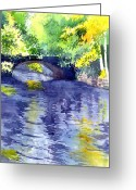 Featured Painting Greeting Cards - Floods Greeting Card by Anil Nene