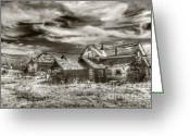 Clapboard Houses Greeting Cards - Flora Houses Greeting Card by Kevin Felts