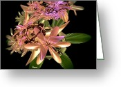 Corsage Greeting Cards - Floral Beauty Greeting Card by Julie  Grace