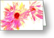 Iphonesia Greeting Cards - Floral Burst Greeting Card by Mickey Hatt