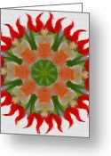 Flares Greeting Cards - Floral Flare Greeting Card by Jeff Kolker