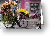 Far Greeting Cards - Floral ride Greeting Card by Marion Galt