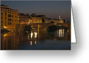 Florence Greeting Cards - Florence - Ponte San Trinita Greeting Card by Joana Kruse