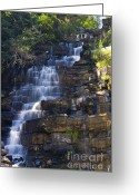 Glacier Greeting Cards - Florence Falls Greeting Card by Scott Hansen
