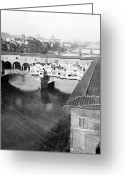 White River Scene Greeting Cards - Florence Italy - Vecchio Bridge and River Arno Greeting Card by International  Images