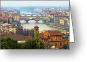 Renaissance Greeting Cards - Florence Italy Greeting Card by Photography By Spintheday