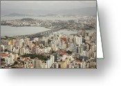Explosion Photo Greeting Cards - Florianópolis Greeting Card by DircinhaSW