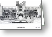 College Buildings Images Greeting Cards - Florida State Greeting Card by Frederic Kohli