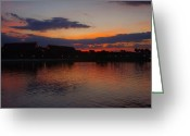 Downtown Disney Greeting Cards - Florida Sunset Greeting Card by Thomas  MacPherson Jr