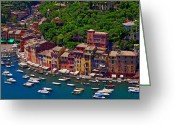 Harbors Greeting Cards - Flotilla Greeting Card by John Galbo