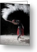 Red Dress Greeting Cards - Flour Dancing Series Greeting Card by Cindy Singleton