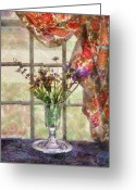 You Greeting Cards - Flower - Flower - A vase of flowers  Greeting Card by Mike Savad