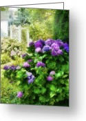 Summers Greeting Cards - Flower - Hydrangea - Lovely Hydrangea  Greeting Card by Mike Savad