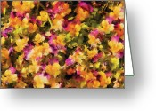 You Greeting Cards - Flower - Pansy - pensees lart Greeting Card by Mike Savad