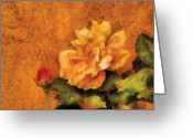 You Greeting Cards - Flower - Rose - My little Buddy Greeting Card by Mike Savad
