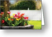 Caring Greeting Cards - Flower - Tulip - Spring Tulips Greeting Card by Mike Savad